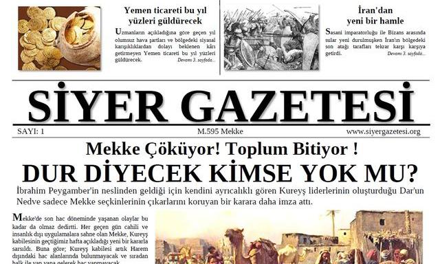 Lise Öğrencilerinden Siyer Gazetesi